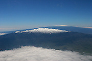 Mauna Kea with Mauna Loa in Background, Island of Hawaii