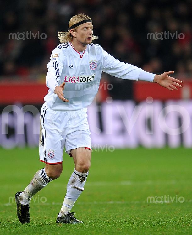 Fussball 1. Bundesliga :  Saison   2010/2011   13. Spieltag  20.11.2010 Bayer 04 Leverkusen - FC Bayern Muenchen  Anatoliy Tymoshchuk (FC Bayern Muenchen)
