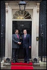 JAN 22 2013 David Cameron with  Emir of Qatar, Sheikh Hamad bin Khalifa Al Thani