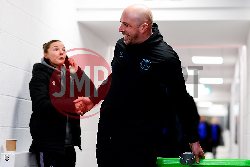 Loren Dykes of Bristol City shakes hands with Neil Moore - Mandatory by-line: Ryan Hiscott/JMP - 17/02/2020 - FOOTBALL - Stoke Gifford Stadium - Bristol, England - Bristol City Women v Everton Women - Women's FA Cup fifth round