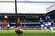 Goal - Everton forward Moise Kean (27) scores 1-1 during the Premier League match between Everton and Bournemouth at Goodison Park, Liverpool, England on 26 July 2020.