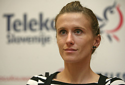 Sonja Roman at press conference of Athletic Federation of Slovenia (AZS) before the 12th IAAF World Indoor Championships, Valencia, Spain, 7 ? 9 March 2008, on March 3, 2008 in M-Hotel, Ljubljana, Slovenia. (Photo by Vid Ponikvar / Sportal Images)