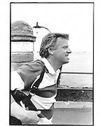 Michael Grade. Cowes. 1985 approx.© Copyright Photograph by Dafydd Jones 66 Stockwell Park Rd. London SW9 0DA Tel 020 7733 0108 www.dafjones.com