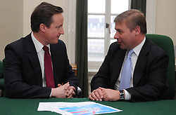Leader of the Conservative Party David Cameron with Mark Francois, Member of Parliament for Rayleigh and Wickford in his office in Norman Shaw South, January 5, 2010. Photo By Andrew Parsons / i-Images.