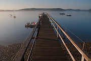 Doc's Doc in Early Morning, Castine, Maine, US
