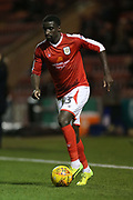 Zoumana Bakayogo on the ball for Crewe during the EFL Sky Bet League 2 match between Crewe Alexandra and Exeter City at Alexandra Stadium, Crewe, England on 20 February 2018. Picture by Graham Holt.