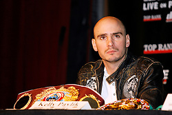 December 11, 2007; New York, NY, USA;  Unbeaten World Middleweight Champion Kelly Pavlik at the press conference announcing his rematch against former champion Jermain Taylor, which will take place Saturday, February 16, 2008, at MGM Grand in Las Vegas, NV.  Taylor missed attending the press conference due to the birth of his baby girl on Monday evening.
