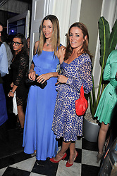 Left to right, MIRA SORVINO and NATALIE PINKHAM at a reception hosted by Beulah London and the United Nations to launch Beulah London's AW'11 Collection 'Clothed in Love' and the Beulah Blue Heart Campaign held at Dorsia, 3 Cromwell Road, London SW7 on 18th October 2011.