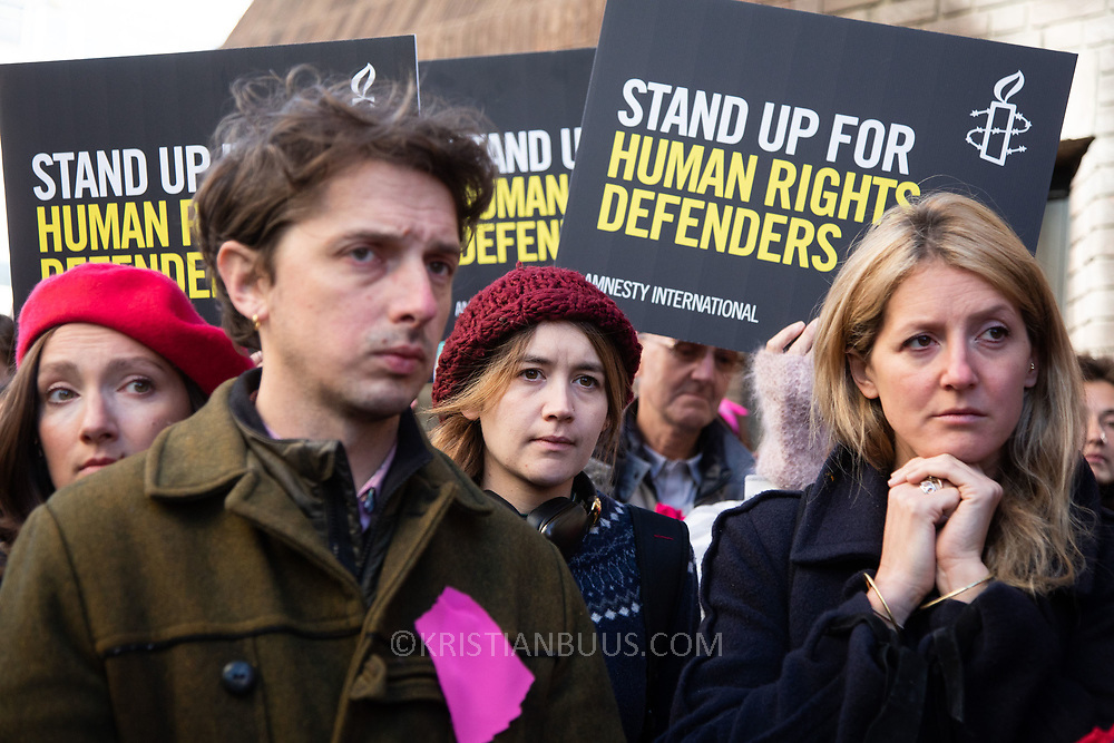 First day of the trial of the Stansted 15 in Chelmsford crown court. The defendants and supporters including speakers like Jonathan Bartley, co-leader of the Green Party. The 15 defendants are charged under the terrorism legislation for stopping a deportation flight in Standsted airport 2017. The flight was due to deport people to Nigeria and Ghana and the action stooped the plane from taking off. Several of the deportees are still in the UK.