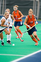 Virginia Cavaliers M/F Fenna Breitbarth (14)..The #10 ranked Virginia Cavaliers fell to the #7 ranked Penn State Nittany Lions 3-1 at the University Hall Turf Field in Charlottesville, VA on August 26, 2007.