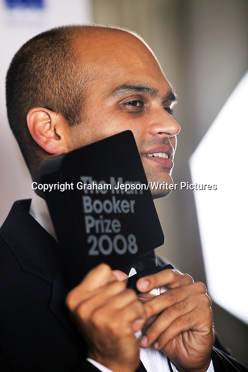 Aravind Adiga winner of the Man Booker Prize at the Guildhall, London<br /> <br /> Copyright Graham Jepson/Writer Pictures<br /> contact: +44 (0)20 822 41564<br /> info@writerpictures.com<br /> www.writerpictures.com
