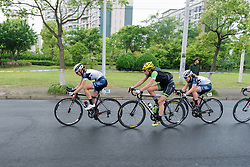 Poitou Charentes Futuroscope and Cylance Pro Cycling set the pace as the race approaches the halfway mark - Tour of Chongming Island 2016 - Stage 3. A 99 km road race on Chongming Island, China on May 8th 2016.