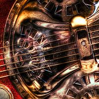 A six string blues guitar