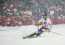 27.01.2015, Planai, Schladming, AUT, FIS Skiweltcup Alpin, Schladming, 1. Lauf, im Bild Reinfried Herbst (AUT) // Reinfried Herbst (AUT) during the first run of the men's slalom of Schladming FIS Ski Alpine World Cup at the Planai Course in Schladming, Austria on 2015/01/27, EXPA Pictures © 2015, PhotoCredit: EXPA/ Erwin Scheriau
