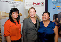 Neil Marie Alngohuro, Coral Haven Nursing Home, Michelle  Cosgrove, Grunenthal and Mia Momville Coral Haven at the Radisson Blu, Galway for the Assessing & Managing Pain, A Nursing Perspective lecture. Photo:Andrew Downes