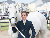 21/09/2014  James Gorham from Sky road with Brownie (Kingston Dreamer) at the Connemara Pony Show 2014 in Clifden Co. Galway. Photo:Andrew Downes