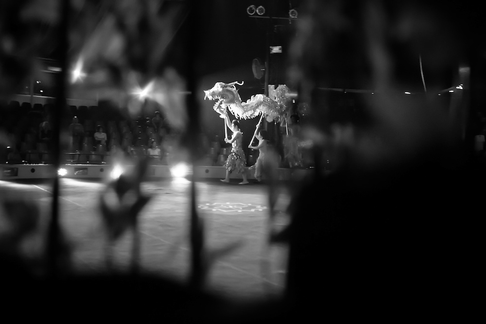 Behind the scenes at the Xin Chao! Circus in Ho Chi MInh City, Vietnam.