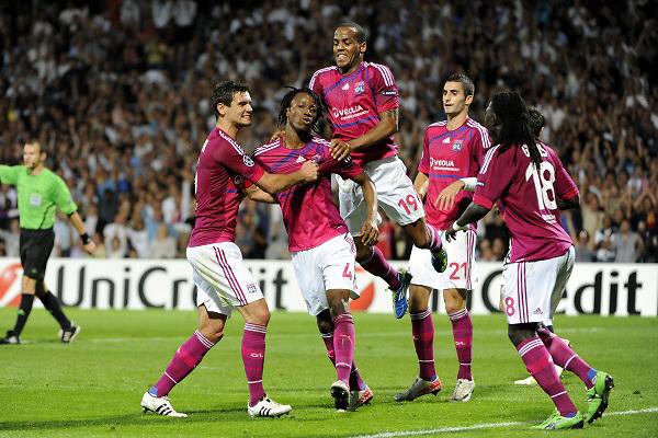 FOOTBALL - UEFA CHAMPIONS LEAGUE 2011/2012 - GROUP STAGE - GROUP D - OLYMPIQUE LYONNAIS v DINAMO ZAGREB - 27/09/2011 - PHOTO JEAN MARIE HERVIO / DPPI - JOY LYON AFTER 2ND GOAL