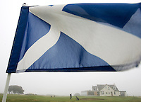 Murcar Links Golf. Schotse vlag als pin.