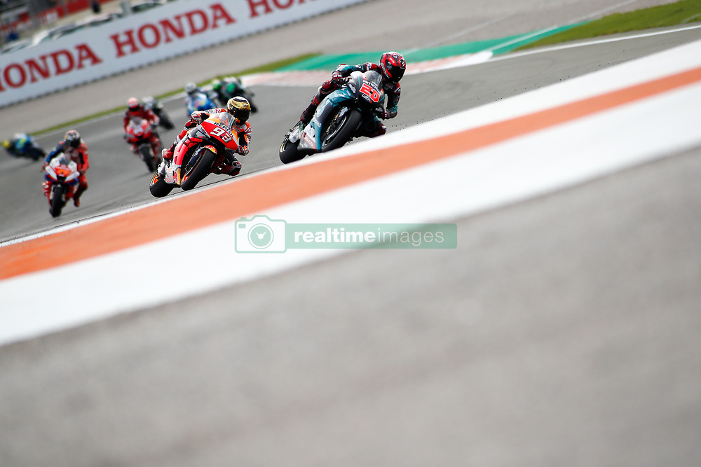 November 17, 2019, Cheste, VALENCIA, SPAIN: Fabio Quartararo, rider of Petronas Yamaha SRT from France, leads during the Race of the Valencia Grand Prix of MotoGP World Championship celebrated at Circuit Ricardo Tormo on November 16, 2019, in Cheste, Spain. (Credit Image: © AFP7 via ZUMA Wire)