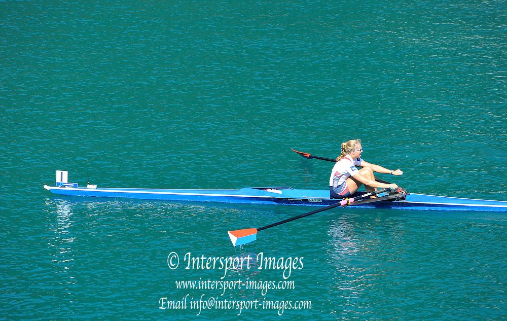 Bled, SLOVENIA.  USA W1X.  Gevie STONE,  . 2011 FISA World Rowing Championships, Lake Bled. Local Time 11:41:33   Saturday  03/09/2011  [Mandatory Credit;  Intersport Images]  Original Camera File No.   2011011639.jpg