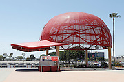 ANAHEIM, CA - MAY 15:  A large metal rendition of the Los Angeles Angels of Anaheim hat decorates the entrance to the stadium during the game against the Oakland Athletics on Tuesday, May 15, 2012 at Angel Stadium in Anaheim, California. The Angels won the game 4-0. (Photo by Paul Spinelli/MLB Photos via Getty Images)