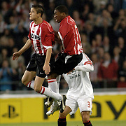 NLD/Eindhoven/20051101 - CHampions League PSV - AC Milan, Jefferson Farfan, Ibrahim Affalay, Paolo Maldini