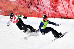 PICK Owen, SB-LL2, GBR, TUDHOPE Ben, AUS, Snowboard Cross at the WPSB_2019 Para Snowboard World Cup, La Molina, Spain