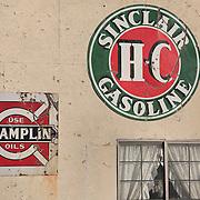 Sinclair Gasoline and Champlin Oils Signs - Eldorado Canyon - Nelson NV