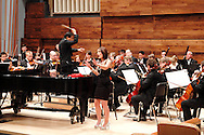 WSU junior Hadeen Griffith sings with the WSU Chamber Orchestra, conducted by Dr. Jackson Leung during the 13th Annual ArtsGala at Wright State University's Creative Arts Center, Saturday, March 31, 2012.