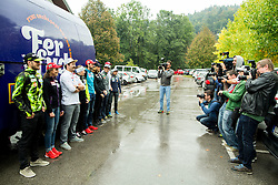 Photographers during official presentation of the outfits of the Slovenian Ski Teams before new season 2015/16, on October 6, 2015 in Kulinarika Jezersek, Sora, Slovenia. Photo by Vid Ponikvar / Sportida