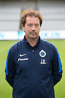 Club's assistant coach Joost Desender poses for the photographer during the 2015-2016 season photo shoot of Belgian first league soccer team Club Brugge, Friday 17 July 2015 in Brugge