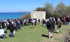 Turkey-Visitors flock to ANZAC Cove, Gallipoli prior to ANZAC Services