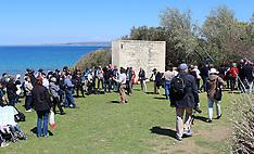 Turkey-Visitors flock to ANZAC Cove, Gallipoli prior to ANZAC Services