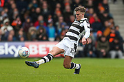 Forest Green Rovers Charlie Cooper(15) controls the ball during the EFL Sky Bet League 2 match between Luton Town and Forest Green Rovers at Kenilworth Road, Luton, England on 28 April 2018. Picture by Shane Healey.