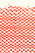 close up of plastic netting