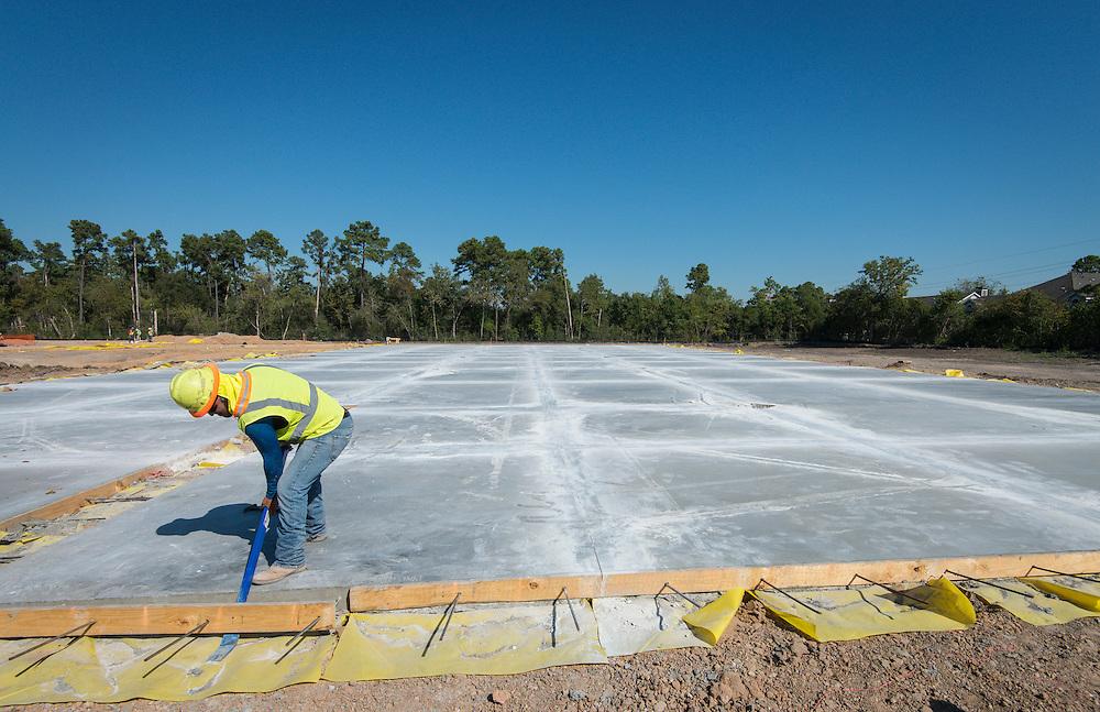 Construction at Mark White Elementary School, October 19, 2015.