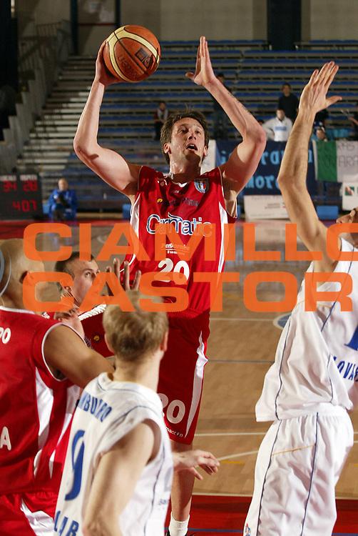 DESCRIZIONE : Novara Lega A2 2007-08 Ignis Novara Carmatic Pistoia <br /> GIOCATORE : Rosselli Guido <br /> SQUADRA : Carmatic Pistoia <br /> EVENTO : Campionato Lega A2 2007-2008 <br /> GARA : Ignis Novara Carmatic Pistoia <br /> DATA : 20/03/2008 <br /> CATEGORIA : Tiro <br /> SPORT : Pallacanestro <br /> AUTORE : Agenzia Ciamillo-Castoria/E.Pozzo <br /> Galleria : Lega Basket A2 2007-2008 <br />Fotonotizia : Novara Campionato Italiano Lega A2 2007-2008 Ignis Novara Carmatic Pistoia <br />Predefinita :