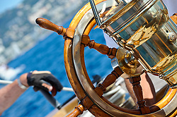 """September 2011 Regates Royales Cannes Onboard Rowdy the NY40 Class boat.<br /> Class: New York 40<br /> Designer(s): Nathanael Greene Herreshoff<br /> Type of Boat: NY40 Bermudan Cutter<br /> Year Built: 1916<br /> LOA m / ft: 19.8m   /   65'<br /> LOD m / ft: 17.98m   /   59'<br /> LWL m / ft: 12.2m   /   40'<br /> Beam m / ft: 4.35m   /   14'3""""<br /> Draft m / ft: 2.4m   /   8'<br /> Sail Stats: Sail No: NY49"""