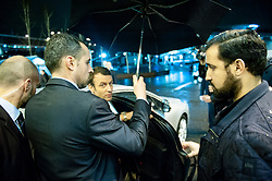 © Licensed to London News Pictures. FILE PICTURE 01/03/2017 Salon de l'Agriculture, Porte de Versailles, Paris, France. Alexandre Benalla (R) pictured helping Emmanuel Macron into his car as he leaves the Paris Agricultural Show at the height of the election campaign. Mr Benalla, a close security aide to Mr Macron, is facing disciplinary action after damning video evidence emerged of him assaulting demonstrators at a May Day demonstration while wearing a CRS riot helmet and a police armband - an ever present shadow to Mr Macron, Benalla continued to serve in his capacity as a security advisor and bodyguard following a light reprimand from the Elysee while the mounting scandal and accusations of an attempted cover up escalated. Macron called an emergency meeting on Sunday to manage the crisis, while Benalla was arrested and remanded in custody over the weekend on charges of violence by a public official, impersonating a police officer and the illegal use of police insignia. Benalla was due to be getting married on Saturday. Macron's popularity ratings fell to an all time low of 39% last week, quashing hopes that the World Cup win would give him a boost. Photo credit: Guilhem Baker/LNP