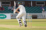 George Rhodes batting during the Specsavers County Champ Div 2 match between Leicestershire County Cricket Club and Lancashire County Cricket Club at the Fischer County Ground, Grace Road, Leicester, United Kingdom on 23 September 2019.