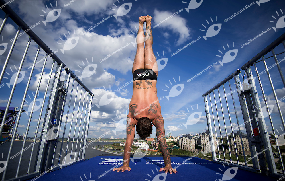 DE ROSE Alessandro ITA<br /> High Diving - Men's 27m high dive preliminaries<br /> Day 11 03/08/2015<br /> XVI FINA World Championships Aquatics Swimming<br /> Kazan Tatarstan RUS July 24 - Aug. 9 2015 <br /> Photo Giorgio Perottino/Deepbluemedia/Insidefoto