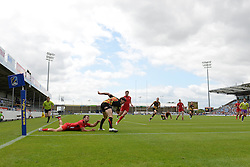 A general view of Sandy Park as Belgium play Wales in the European 7s Grand Prix - Photo mandatory by-line: Dougie Allward/JMP - Mobile: 07966 386802 - 11/07/2015 - SPORT - Rugby - Exeter - Sandy Park - European Grand Prix 7s