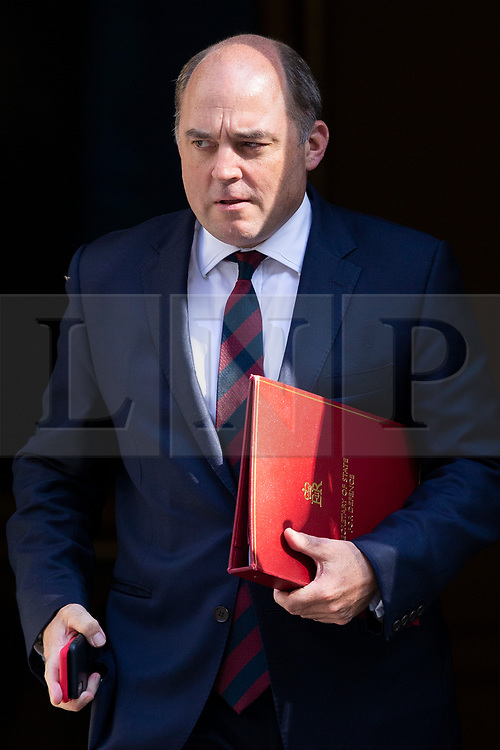 © Licensed to London News Pictures. 25/07/2019. London, UK. Minister for Defence Ben Wallace departs Downing Street after the first meeting of the new Cabinet. Later today Prime Minister Boris Johnson will speak in the House of Commons.  Photo credit: George Cracknell Wright/LNP