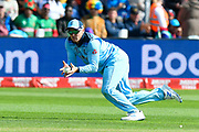 Wicket - Jason Roy of England catches Mushfiqur Rahim (wk) of Bangladesh off the bowling of Liam Plunkett of England during the ICC Cricket World Cup 2019 match between England and Bangladesh the Cardiff Wales Stadium at Sophia Gardens, Cardiff, Wales on 8 June 2019.