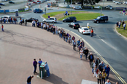 Bryan Adams fans queue outside Sixways Stadium - Mandatory by-line: Matt McNulty/JMP - 14/07/2017 - Sixways Stadium - Worcester, England