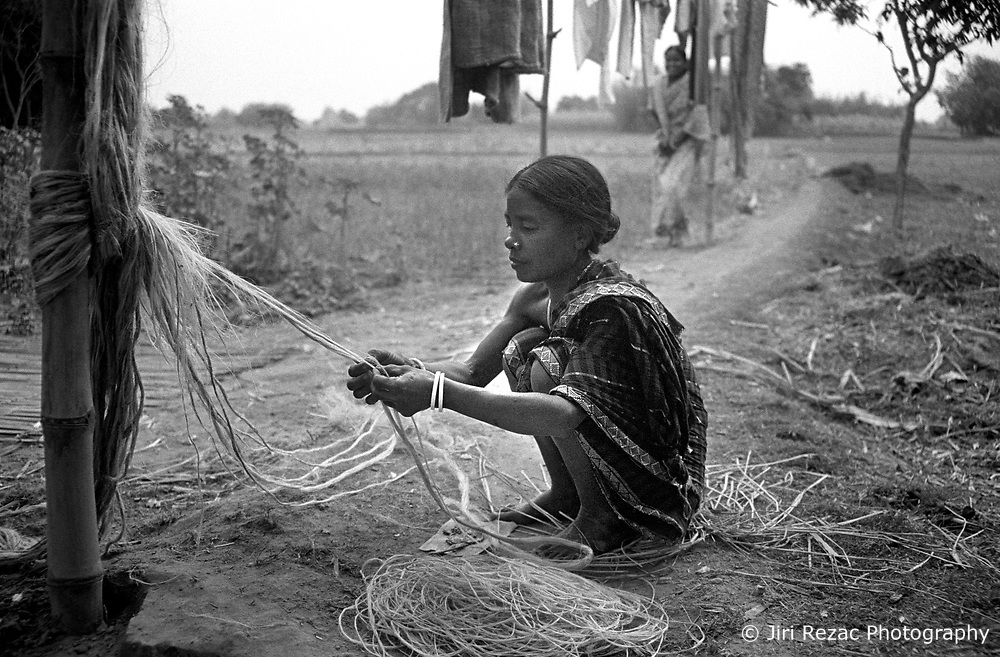 Woman Makes Jute Handicrafts In Dinajpur Jiri Rezac Photography