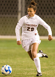 Virginia midfielder/forward Kika Toulouse (20)..The Virginia Cavaliers defeated the Loyola (MD) Greyhounds 4-1 in the first round of the NCAA Women's Soccer tournament held at Klockner Stadium in Charlottesville, VA on November 16, 2007.