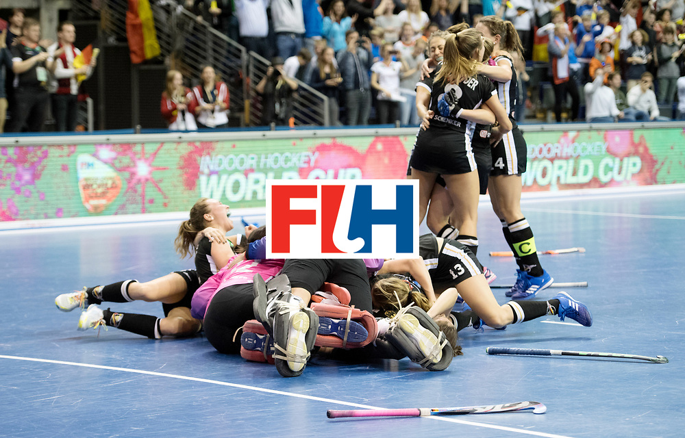 BERLIN - Indoor Hockey World Cup<br /> Final: Netherlands - Germany<br /> foto: Germany wins the Final with 2-1 <br /> <br /> WORLDSPORTPICS COPYRIGHT FRANK UIJLENBROEK