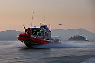 USCG 25 ft. patrol boat, Station San Francisco, BM2 Mark Ward, MK3 Alex Maher, FN Norbert Flores, MK3 Jared Perry